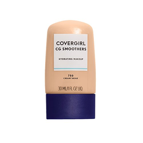 COVERGIRL Smoothers Hydrating Makeup Creamy Beige, 1 oz (packaging may vary) -