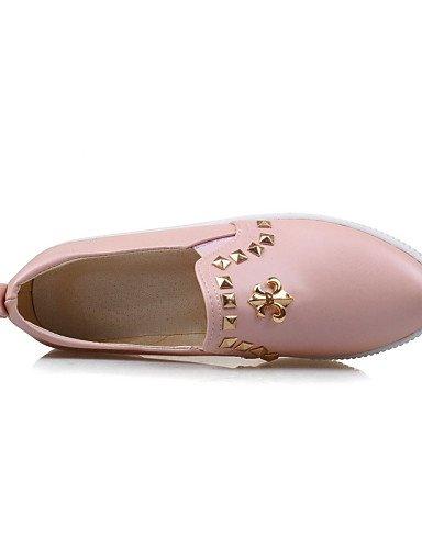 Moda exterior Eu39 Uk6 Uk5 Trabajo A Zapatos Botas Rosa 5 semicuero puntiagudos Eu38 Oficina tacón Cn39 La Gyht Mujer mocasines negro Y Pink Pink De Casual Bajo us8 Cn38 5 Zq us7 Rojo vwZq7SgAx