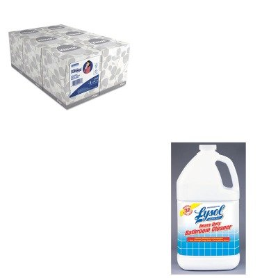 KITKIM21271RAC94201EA - Value Kit - Professional LYSOL Brand Disinfectant Heavy-Duty Bath Cleaner (RAC94201EA) and KIMBERLY CLARK KLEENEX White Facial Tissue (KIM21271) by Lysol