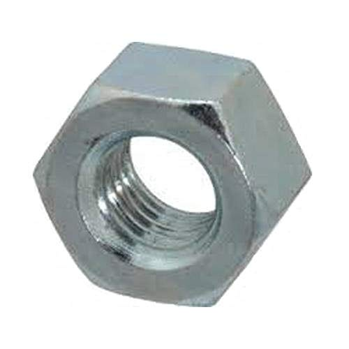 "Small Parts FSC8FHNSZ Low-Strength Steel Hex Nut, Zinc Plated, 8""-36"" Thread Size (Pack of 100)"