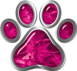 REFLECTIVE-Dog-Cat-Animal-Paw-Sticker-Decal-in-Pink-Camouflage