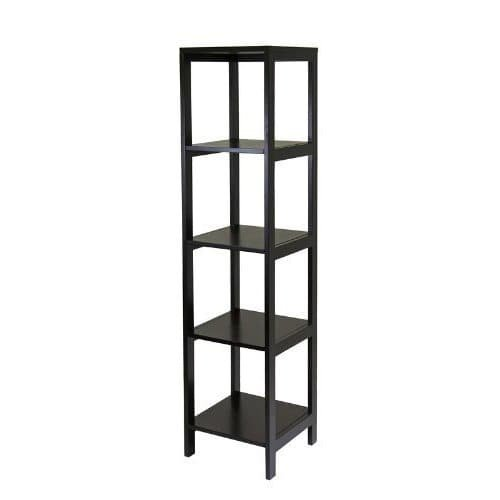 Luxury Home Hailey Brown Wood 5-tier Modular Tower Shelf by Luxury Home (Image #2)