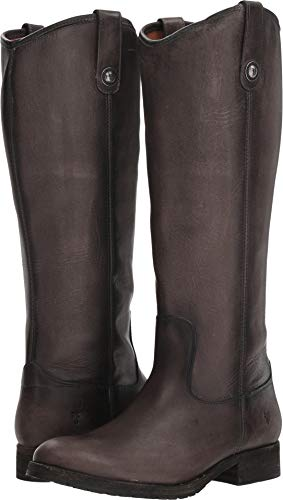 FRYE Melissa Button Tall Lug Smoke Womens ZArpqw56Z