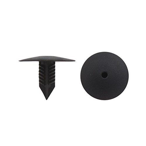Amazon.com: eDealMax 100 remaches del PC Negro plásticos Sujetadores 10 x 10 mm diámetro del agujero Para Parachoques auto del coche Fender: Automotive