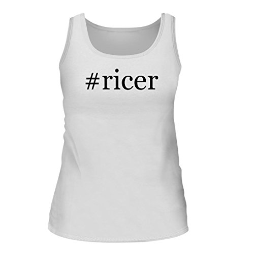 #ricer - A Nice Hashtag Women's Tank Top, White, (Cuisipro Stainless Steel Potato Ricer)