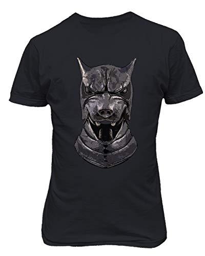 TMB Apparel New Novelty Shirt of Thrones Shirt Distressed Hounds Helm Men's T-Shirt (Black, Large) -