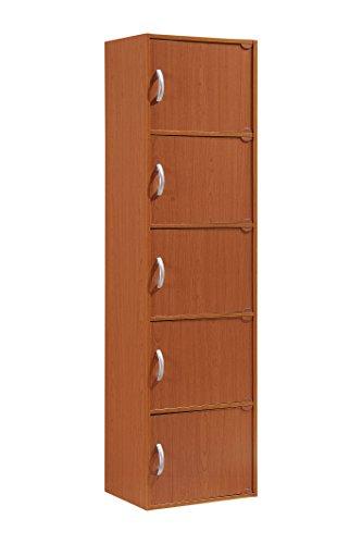 Price comparison product image Hodedah 5 Door,  Five Shleves,  Enclosed Storage Cabinet