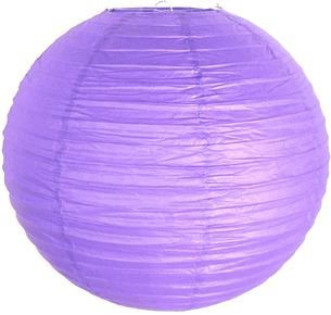 Perfectmaze 12 Piece 8'' (Inch) Round Chinese Paper Lantern for Wedding Party Engagement Decoration_Lavender