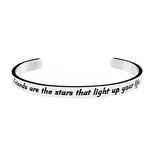 Joycuff Friendship Cuff Bangle Bracelets Jewellery Gift Friends are The Stars That Light up Your Life