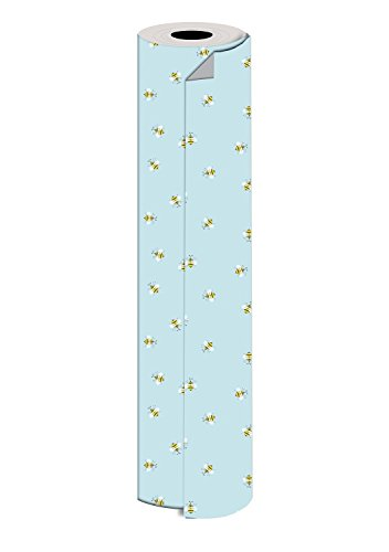 Jillson Roberts Bulk 1/2 Ream All-Occasion Gift Wrap, 30'' x 417', Honey Bees by Jillson Roberts