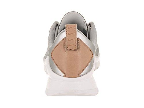 Nike a White donna righe da con Metallic Velour Silver cappuccio Luxe maglia Stripe HxqwrIHa