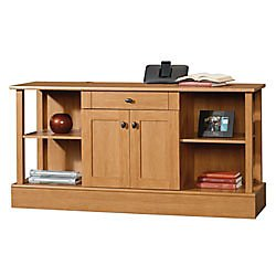 Sauder Maple Desk - Sauder 410443 Dawson Computer Credenza, Canyon Maple Finish