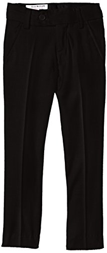 Isaac Mizrahi Little Boys' Slim Wool Blend Slim Pant, Black, - Isaac Black