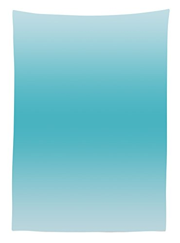 Ombre Tablecloth Tropical Beach Cove Aquatic Design Digital Printed Room Decorations Art Print Dining