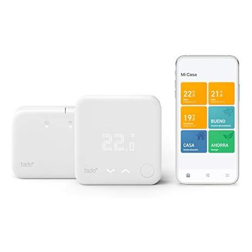 chollos oferta descuentos barato tado Termostato Inteligente Inalámbrico Kit de Inicio V3 Control inteligente de calefacción Designed in Germany trabaja con Alexa Siri Asistente de Google