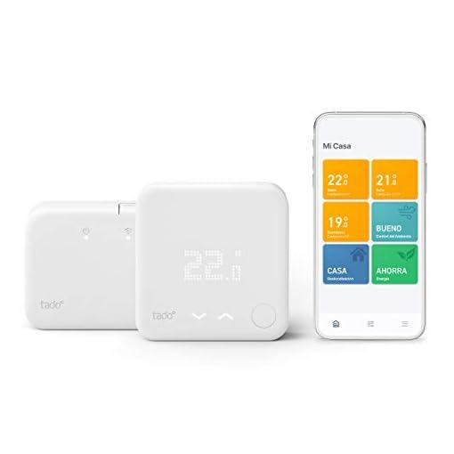 tado Termostato Inteligente Inalámbrico Kit de Inicio V3+ – Control inteligente de calefacción, Designed in Germany, trabaja con Alexa, Siri & Asistente de Google