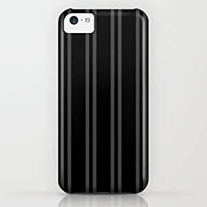 Society6 - Charcoal Gray/black Vertical Stripes iPhone & iPod Case by Lyle Hatch