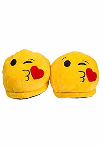 Emoji-Hausschuhe - Kiss