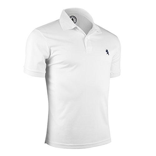Albert Morris Polo Shirt Men - White, XXL - Short Sleeve, Single Pack