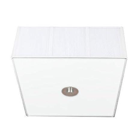 Lámpara de techo cuadrada con blanco de tela de organza con ...
