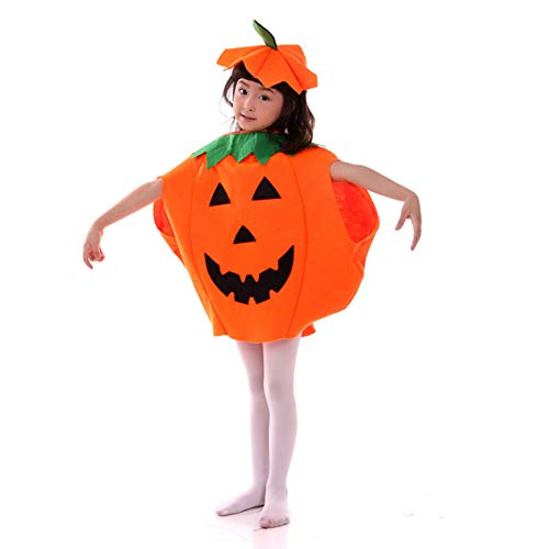 Amor Pumpkin Costume Suit Unisex Cute Halloween Cosplay Costume Party Clothes for Kids April Fools Day Jokes