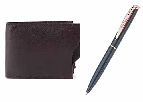 Walletsnbags Flapper Leather Mens Wallet With Pierre Cardin Eve Pen