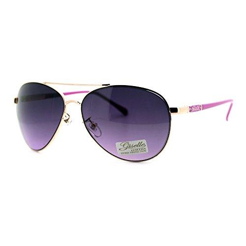 Giselle Lunettes Sunglasses Womens Classic Round Aviators UV 400 - Aviator Giselle Sunglasses