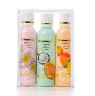 Price comparison product image Hawaiian Scented Body Lotion - Travel Pack Assortment – 3 Bottles 4oz each and 1 Tube of Gardenia Moisturizing Lotion, 1 Bar of Plumeria Face & Body soap