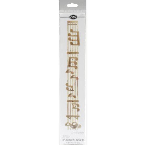 Sidekick Decorative Strip - Sizzix 657343 Sizzlits Decorative Strip Die, Sheet Music by Rachael Bright, Gold