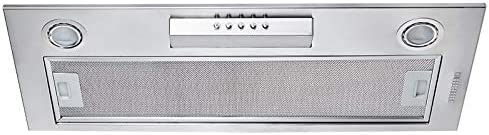 Extractor de copa/campana extractora/recirculación/extractor/aspiración/3 niveles de motor/máx. 650 m3h/nivel de ruido 42 dB (gris).: Amazon.es: Grandes electrodomésticos
