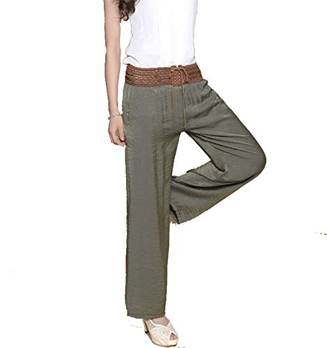 Army di alta Culottes e delle alta alta di vita vita autunno a Datsven donne Vita inverno Green larghi di Pantaloni O6xqx0U
