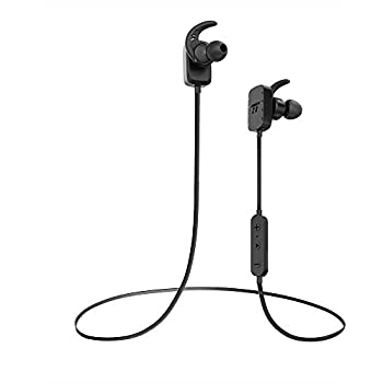 TaoTronics Bluetooth Headphones Wireless In Ear Earbuds Sports Earphones with Microphone, Black (8 Hours Playtime, Bluetooth 4.1, Hands Free Calling, Maximum Compatibility)
