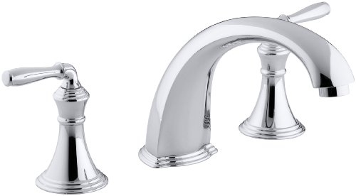 KOHLER K-T398-4-CP Devonshire Deck/Rim-Mount High-Flow Bath Faucet Trim, Polished -