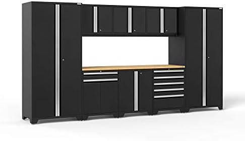 NewAge Products Pro Series Black 9 Piece Set, Garage Cabinets, 64180