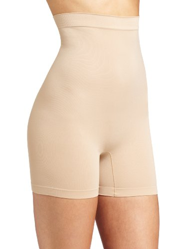 Barely There Shapewear (Barely There Women's Second Skinnies Smoothers Hi Waist Boxer, Nude, Large)