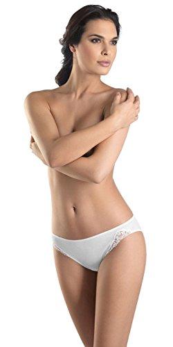 Hanro Women's Delicate Hi-Cut Panty Brief Panty, White, X-Small