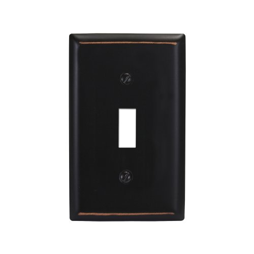 Amerelle 75TVB Madison 1 Toggle Wallplate, Aged Bronze