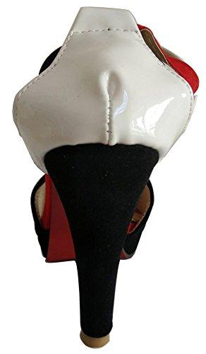Conique Toe Femme Aisun Perfor Plateforme Mode Peep Talon YZIqd