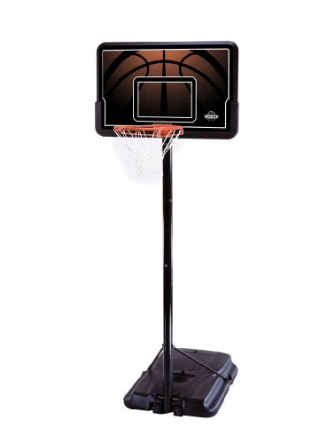 Lifetime 90040 Height Adjustable Portable Basketball System, 44 Inch Backboard (Height Of A Basketball Hoop High School)