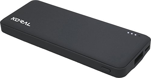 Koral Luma 3000 Portable Charger - Compact 3000mAh Power Bank (External Battery) for iPhone 6, 7, 8, X, iPad, Kindle, Samsung Galaxy & All Android (Grey)