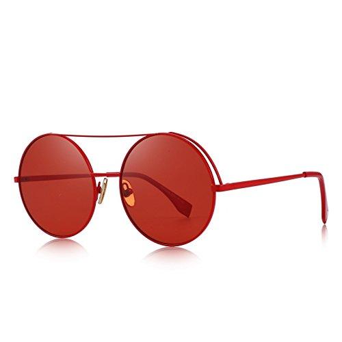 sol de protección mujeres Puentes C06 100 gafas Classic Dobles C05 UV ronda Red TIANLIANG04 con naranja Tqwxg0g