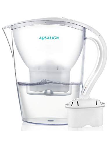 Aqualign Alkaline Water Pitcher 3.5L - Pure Healthy Water Ionizer, pH Enhancer, Fast Filtration and Purification Technology - Healthy, Clean and Toxin-Free Mineralized Alkaline Water Purifier