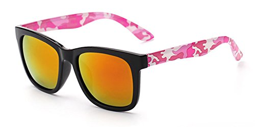 Slocyclub Unisex Full Plastic Camo Wayfarer Sunglasses Stylish UV Protection Colorful - Topman Sunglasses