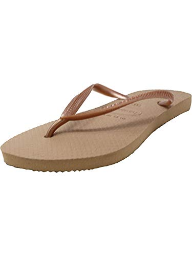 - Havaianas Women's Slim Flip Flop Sandal, Rose Gold 39/40 BR (9-10 M US)