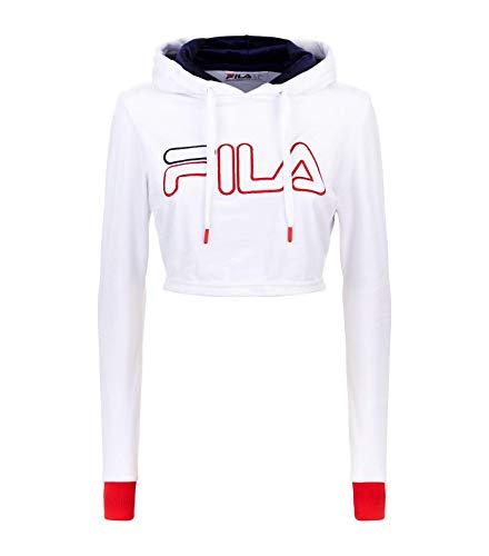 (Fila Women's Antonella Crop Velour Hoodie White/Peacoat/Chinese Red L & Towel)