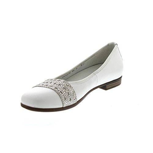 Waldläufer Women's Hamiki Ballet Flats Weiss / Silber zw4DZo3T6C