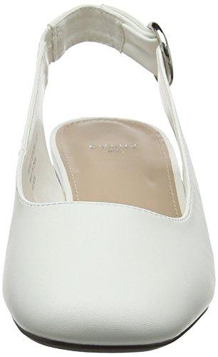 Caviglia Donna La 03 Tacco Evans Col Fiona Scarpe Dietro white Cinturino Bianco Con 8780Zw