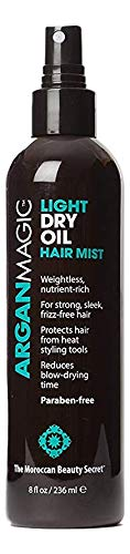Argan Magic Light Dry Oil Hair Mist with Argan Oil - Helps Repair Split Ends and Fight Frizz While Providing Vital Nutrients | Leaves Hair Strong and Sleek | Paraben Free (Best Argan Oil For Hair Uk)