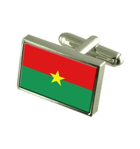 Burkina Faso Boutons de manchette drapeau avec select pochette cadeaux