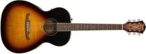 Fender FA-235E Concert Body Style Acoustic Guitar - Rosewood Fingerboard - 3-Tone Sunburst 3 Tone Sunburst Rosewood Fingerboard